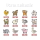 Farm Animal Icon Set - GraphicRiver Item for Sale