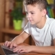 Teen Boy Working On Laptop - VideoHive Item for Sale