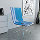Clear blue plastic and chrome chair - 3DOcean Item for Sale