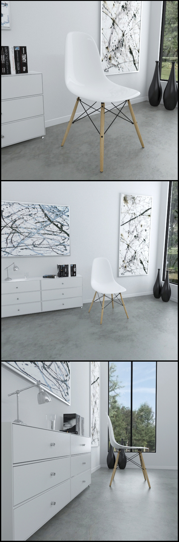 White Eames Plastic Chair (DSW) - 3DOcean Item for Sale