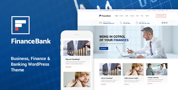 FinanceBank – Business, Finance WordPress Theme