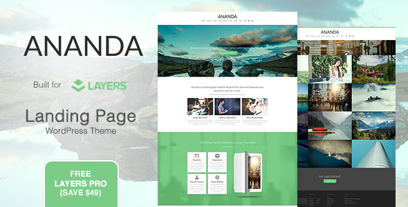 Ananda - Landing Page WordPress Theme