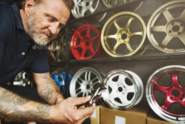 Garage Automotive Maintenance Parts Vehicle Concept - Stock Photo - Images