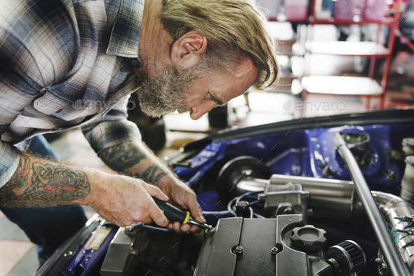 Steering Repair Maintain Automobile Technical Concept - Stock Photo - Images