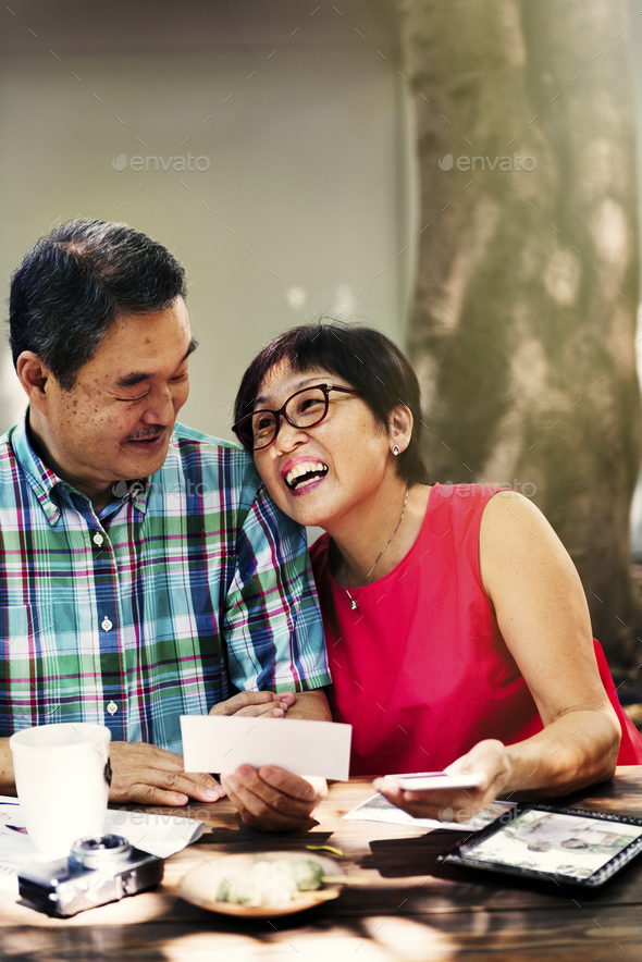 Father Mother Husband Wife Bonding Cafe Sweet Concept - Stock Photo - Images