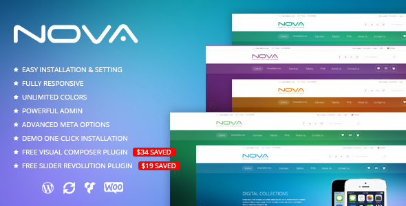 SNS Nova - Digital Store WordPress Theme - WooCommerce eCommerce