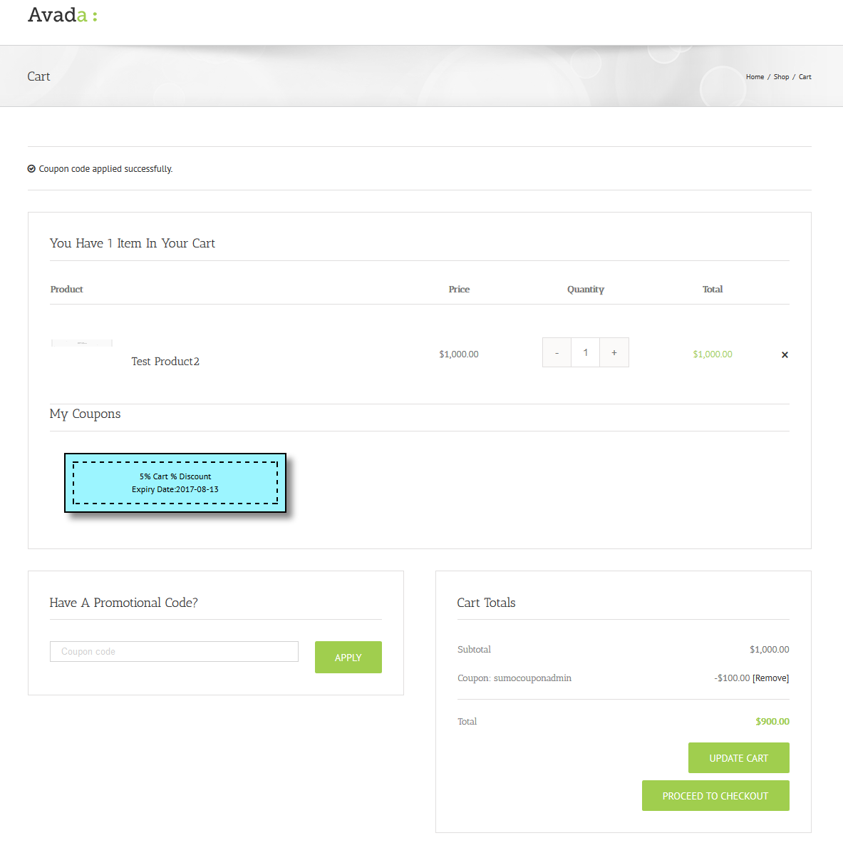 Sumo coupons woocommerce coupon system by fantasticplugins screenshot1014cartpageauto apply coupon modeg fandeluxe Gallery