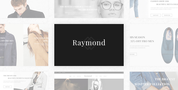 Raymond - eCommerce Fashion Template - Fashion Retail