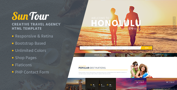 SunTour - Creative Travel Agency HTML Template - Travel Retail