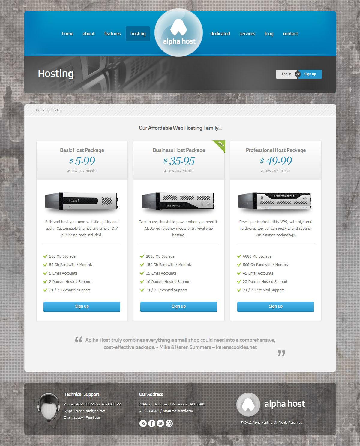 Alpha Modern Hosting Wordpress Theme By Indonez Themeforest