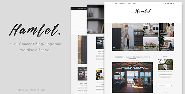 Hamlet – Multi-Concept Blog/Magazine WordPress Theme