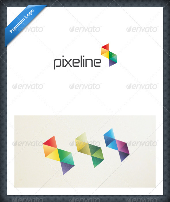 Abstract Pixel Colorful Logo Template - Abstract Logo Templates