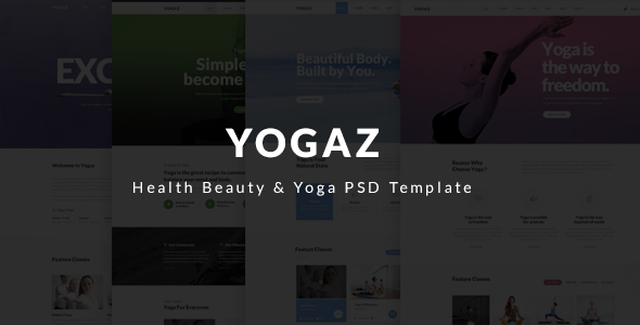 Yogaz – Healthy Beauty & Yoga PSD Template
