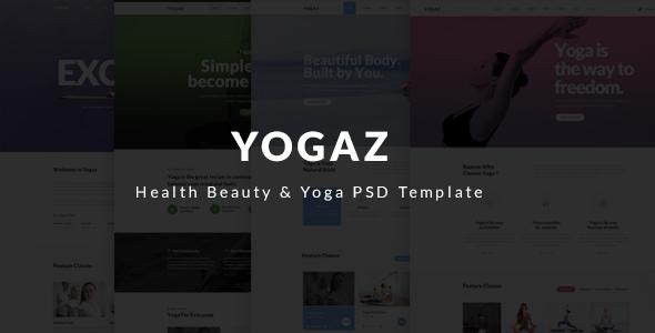 Yogaz - Healthy Beauty & Yoga PSD Template