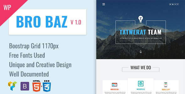 BroBaz – Corporate & Blog WordPress Theme