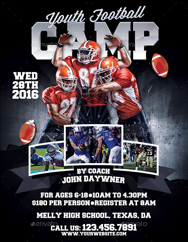 Youth Football Camp Flyers By Inddesigner Graphicriver