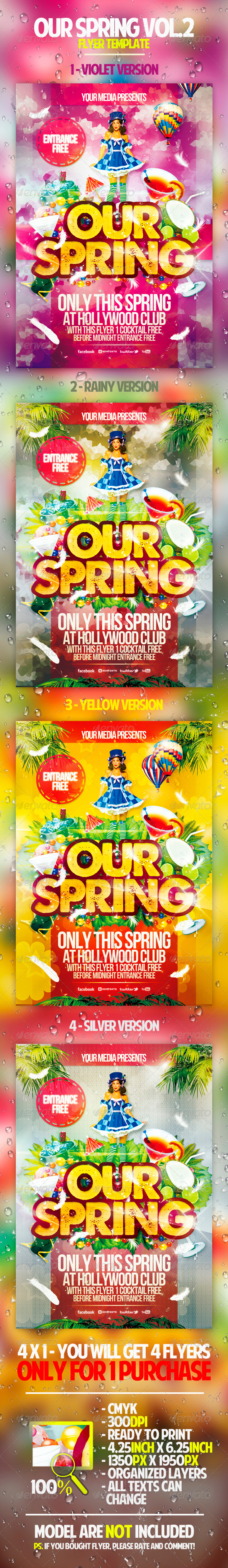Our Spring Vol.2 Flyer Template - Holidays Events