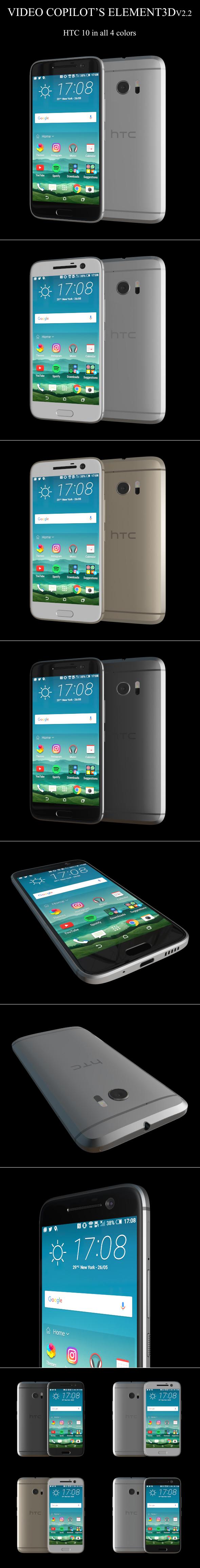 Element3D - HTC 10 - 3DOcean Item for Sale