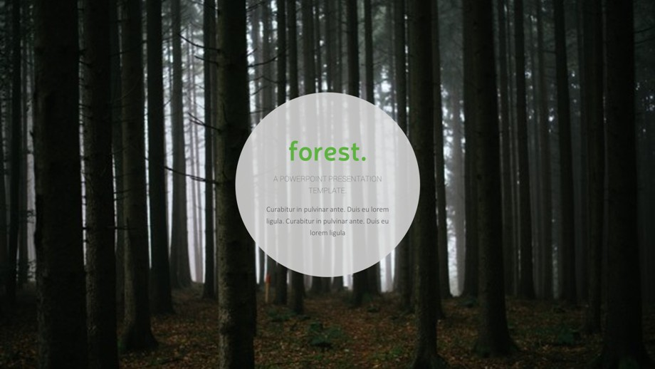 Forest PowerPoint Template by PresentaKit | GraphicRiver