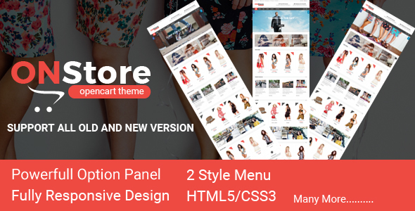 ONStore Responsive OpenCart Theme - Fashion OpenCart