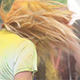 Young Girl Shaking Hair with Colorful Holi - VideoHive Item for Sale