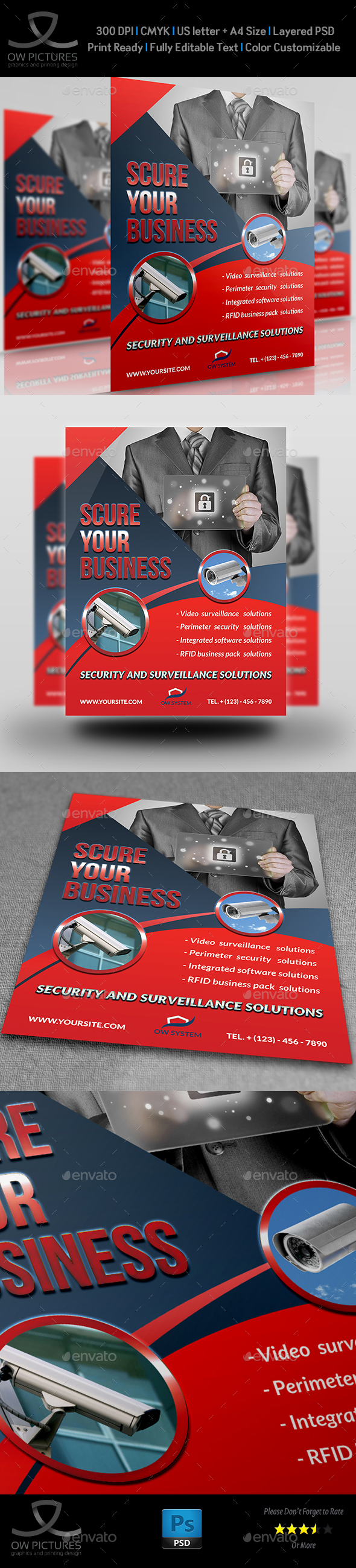 Security System Flyer Template - Flyers Print Templates