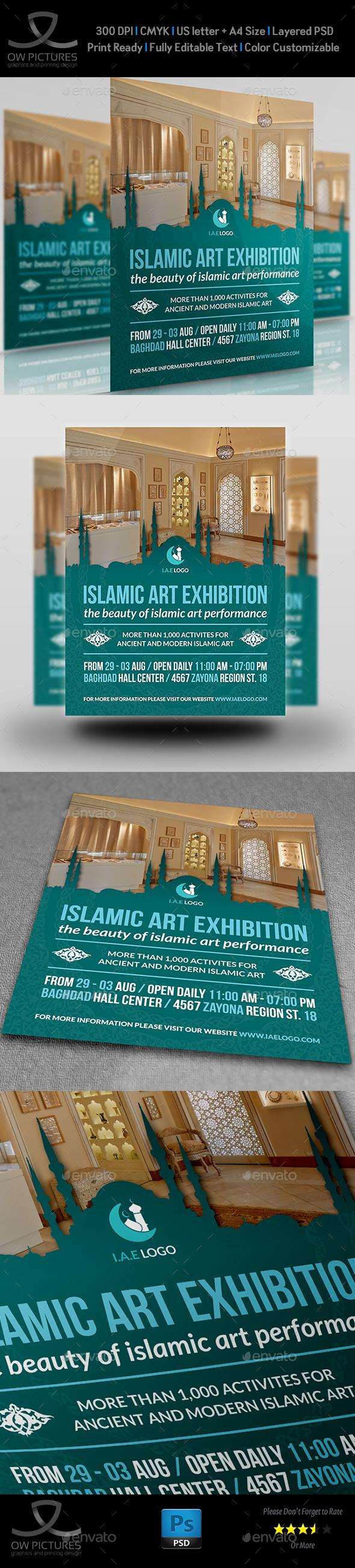Islamic Art Exhibition Flyer Template - Flyers Print Templates