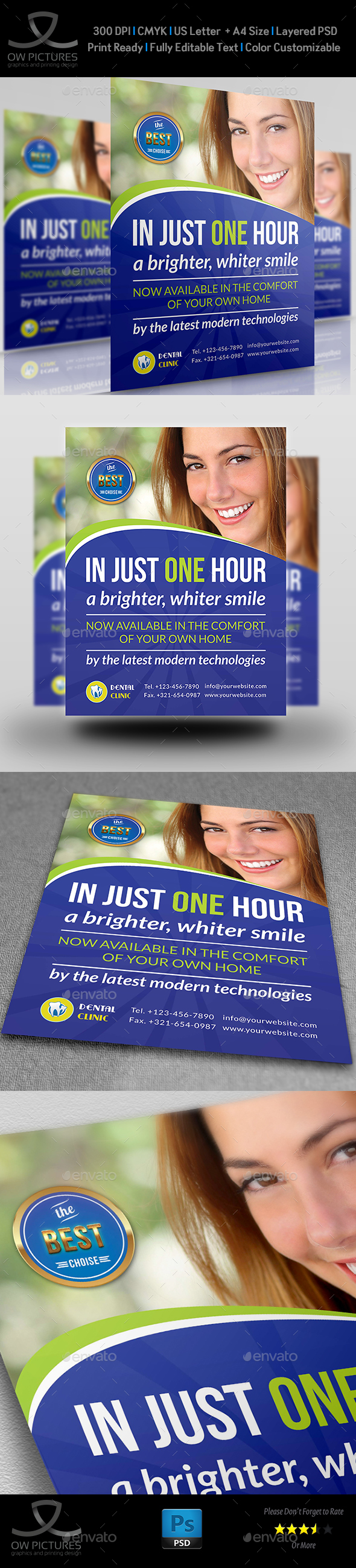 Dental Clinic Flyer Vol.2 Template - Flyers Print Templates