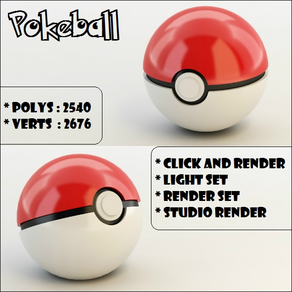 Pokeball 3D - 3DOcean Item for Sale