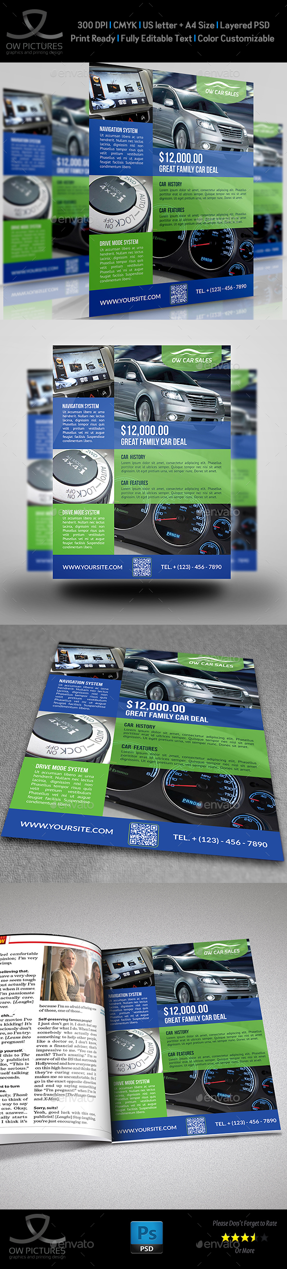 Car For Sale Flyer Template Vo.2   Flyers Print Templates  Car For Sale Flyer Template