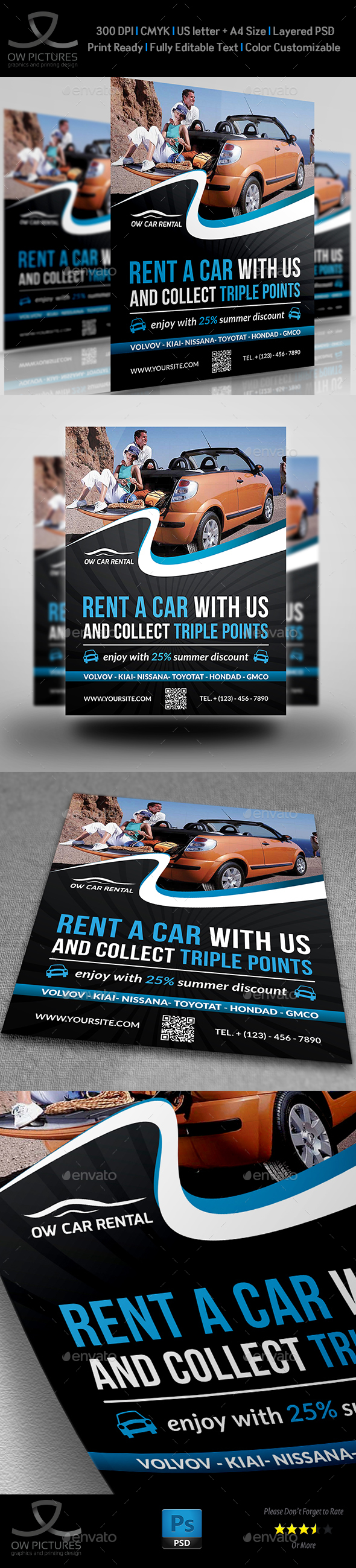 Rent a Car Flyer Template - Flyers Print Templates