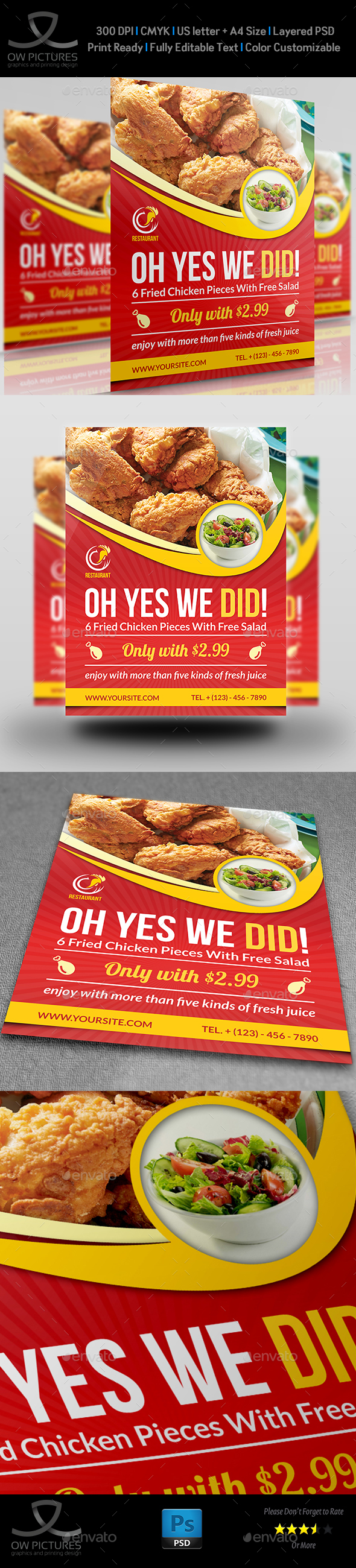 Restaurant Flyer Template Vol.8