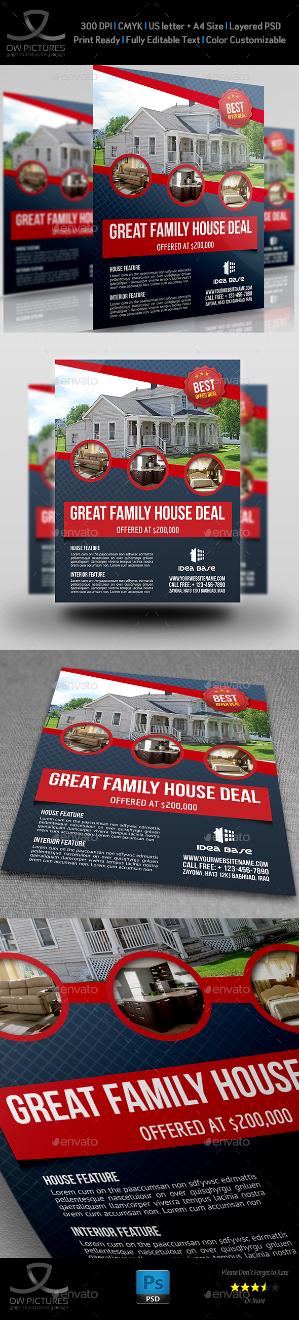 Real Estate Flyer Template Vol.12