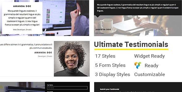 Ultimate Testimonials - CodeCanyon Item for Sale