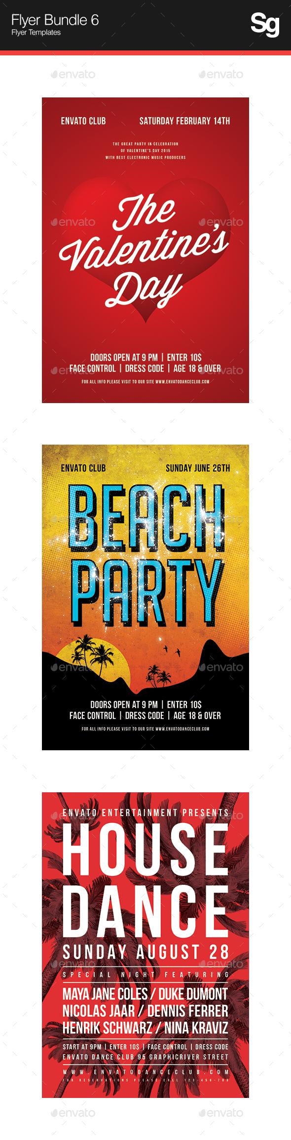 Flyer Bundle 6 - Clubs & Parties Events