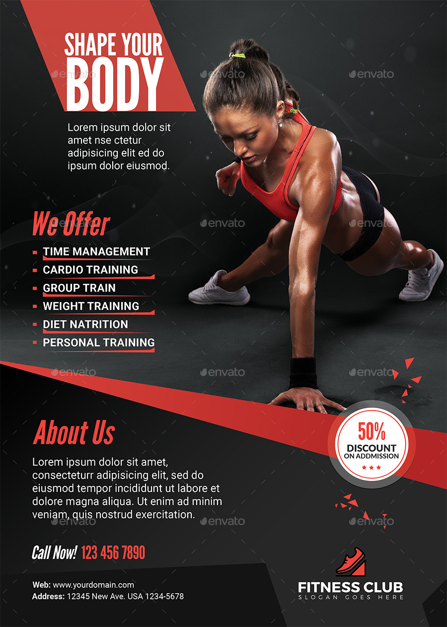 Fitness Flyer   Sports Events. 01_Screenshot ...