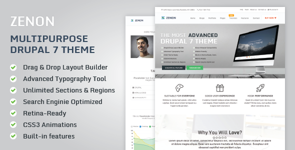 Image of Zenon: Responsive Multipurpose Drupal 7 Theme
