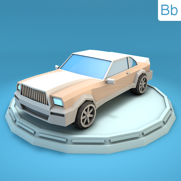 Low Poly Luxury Car - 3DOcean Item for Sale