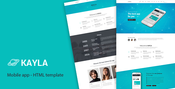 Kayla - One Page App HTML Template - Creative Site Templates
