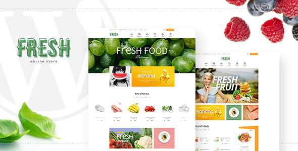 Fresh – Food and Restaurant WooCommerce WordPress Theme