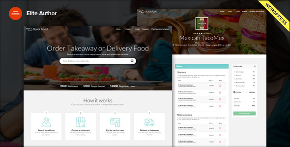 QuickFood – Delivery or Takeaway Food WordPress Theme