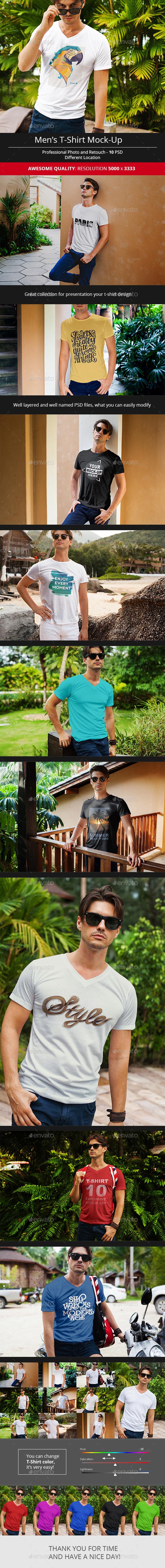 Men's T-Shirt Mock-Up
