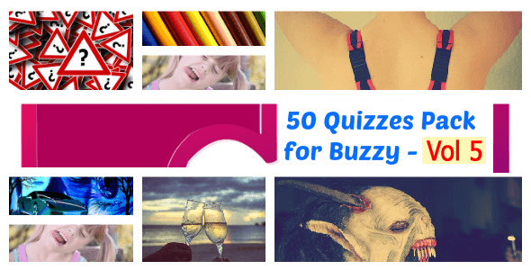 50 Quizzes Pack for Buzzy - Vol 5 - CodeCanyon Item for Sale