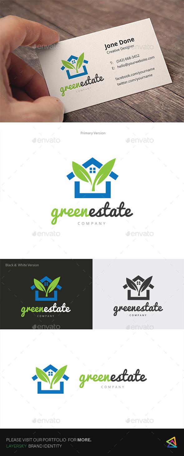 Green Real Estate  - Buildings Logo Templates