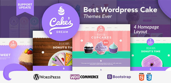 Cake Dream – Responsive Woocommerce Theme