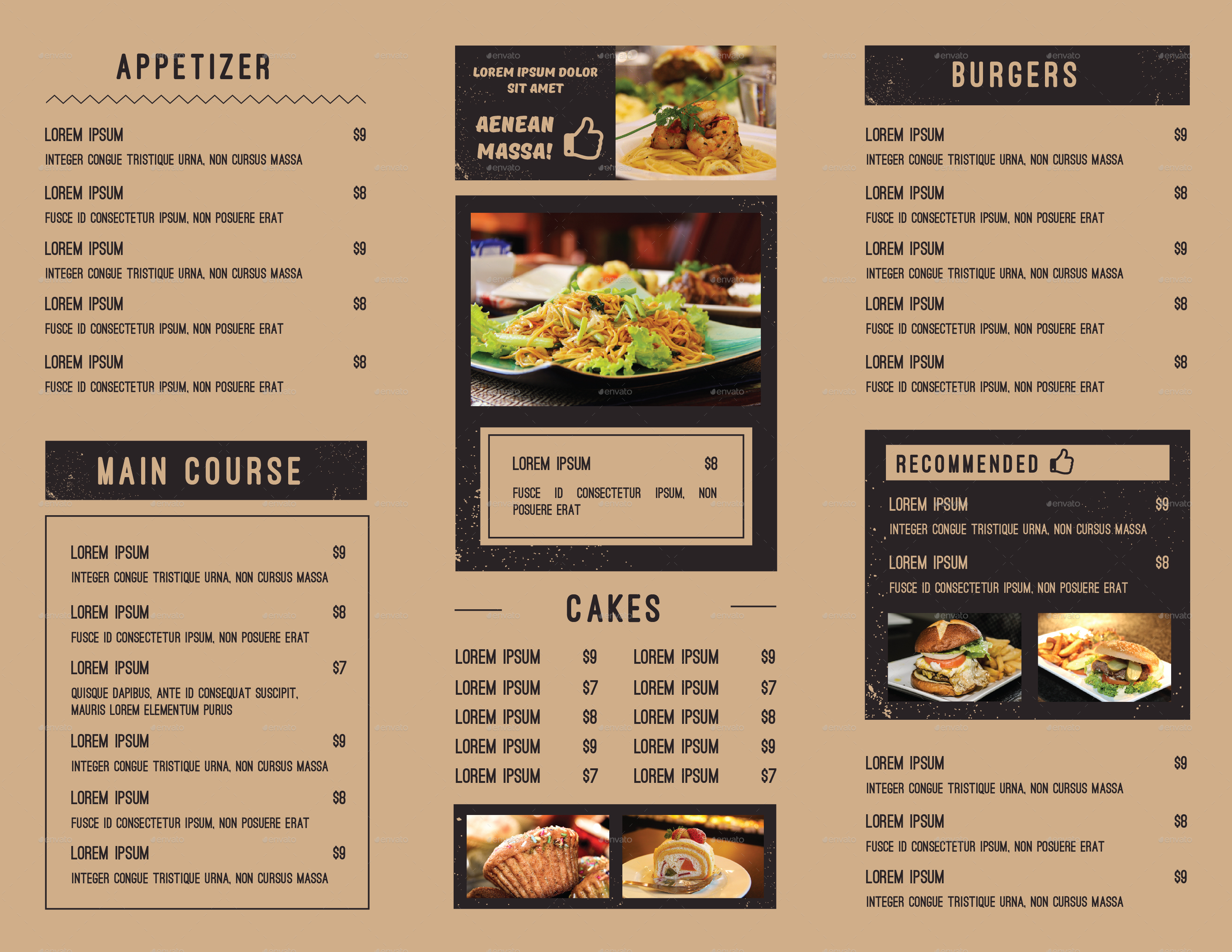 food menu bundle by infinite78910 graphicriver