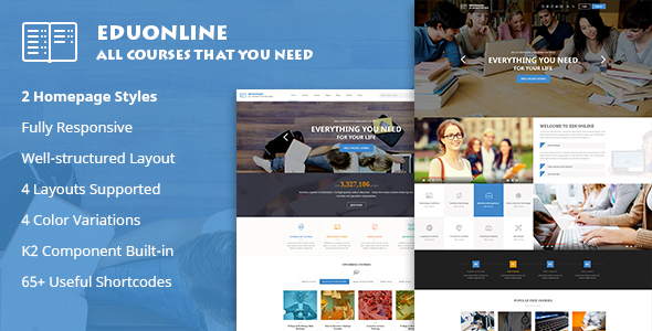 Eduonline – Education & University Joomla Template