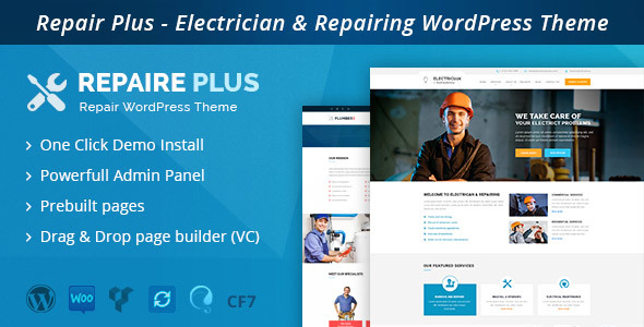 RepairWP – Electrician & Repairing WordPress Theme