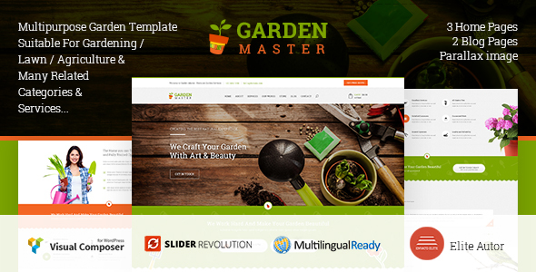 Garden Master - WordPress Agriculture & Lawn Shop theme
