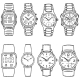 Set of Sketch Wrist Watches - GraphicRiver Item for Sale